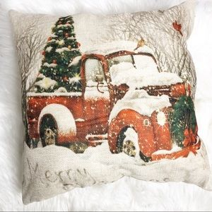 New Handcrafted farmhouse Christmas pillow